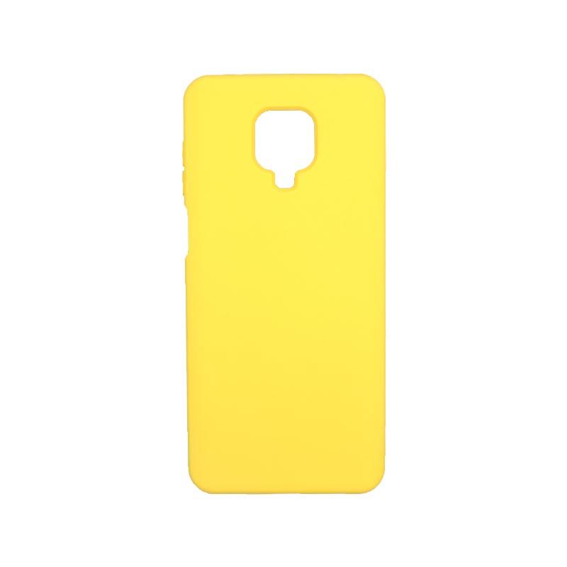 Θήκη Xiaomi Redmi Note 9S / Note 9 Pro / Note 9 Pro Max Silky and Soft Touch Silicone κίτρινο 1