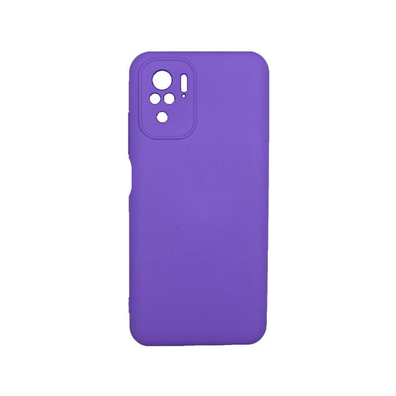 Θήκη Xiaomi Redmi Note 10 / Note 10S Silky and Soft Touch Silicone Μωβ 1