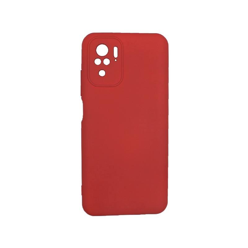 Θήκη Xiaomi Redmi Note 10 / Note 10S Silky and Soft Touch Silicone Μπορντό 1