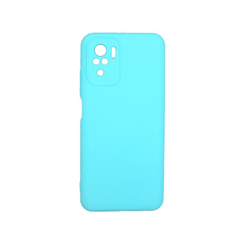 Θήκη Xiaomi Redmi Note 10 / Note 10S Silky and Soft Touch Silicone Γαλάζιο 1