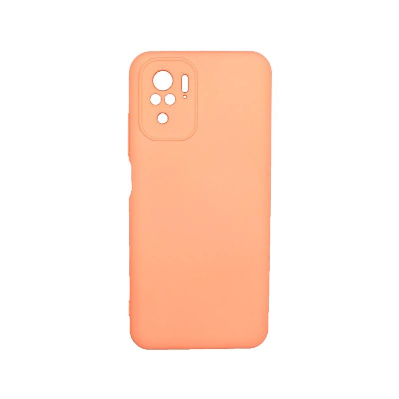 Θήκη Xiaomi Redmi Note 10 / Note 10S Silky and Soft Touch Silicone Πορτοκαλί 1