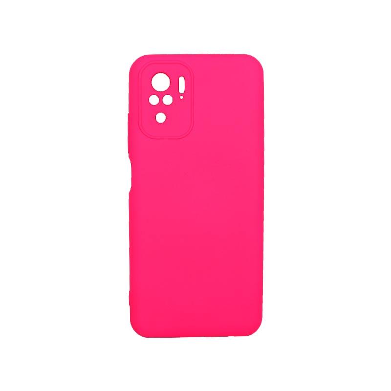 Θήκη Xiaomi Redmi Note 10 / Note 10S Silky and Soft Touch Silicone Φούξια 1