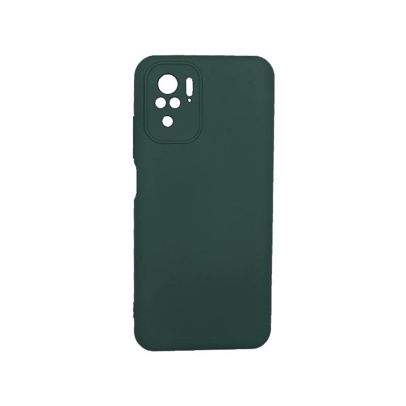 Θήκη Xiaomi Redmi Note 10 / Note 10S Silky and Soft Touch Silicone πράσινο 1