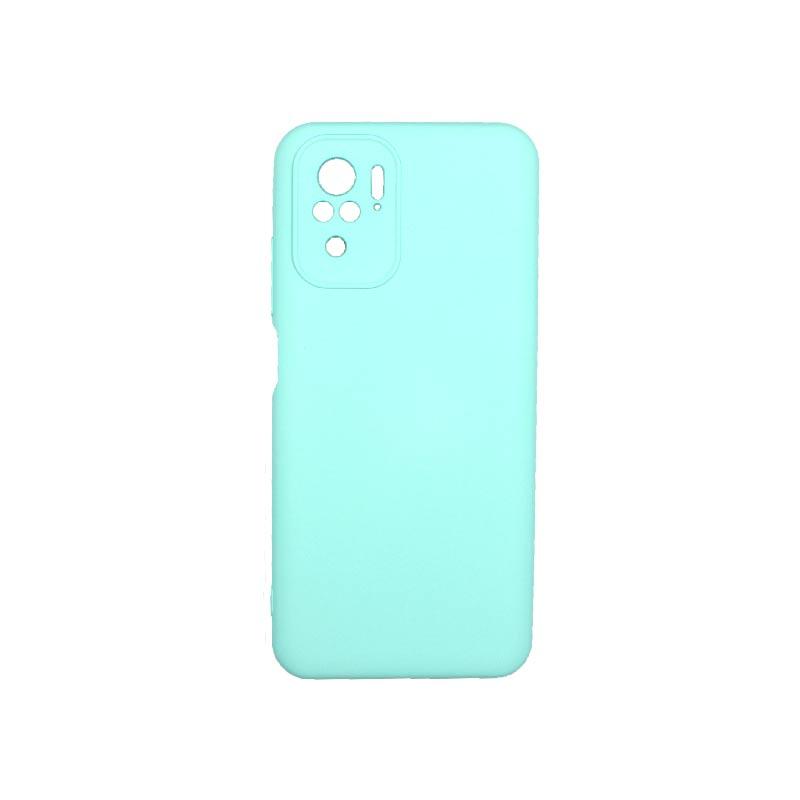 Θήκη Xiaomi Redmi Note 10 / Note 10S Silky and Soft Touch Silicone Τιρκουάζ 1