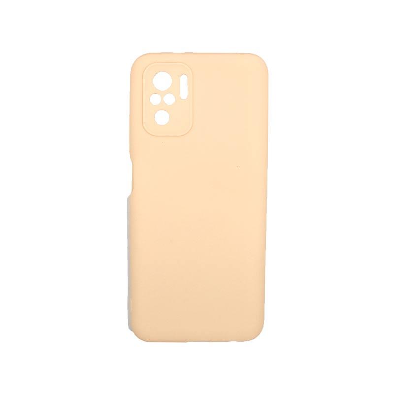 Θήκη Xiaomi Redmi Note 10 / Note 10S Σιλικόνη Με Εσοχές Μπεζ