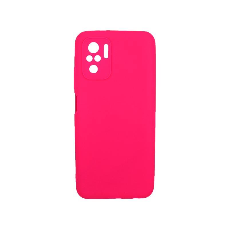 Θήκη Xiaomi Redmi Note 10 / Note 10S Σιλικόνη Με Εσοχές Φούξια