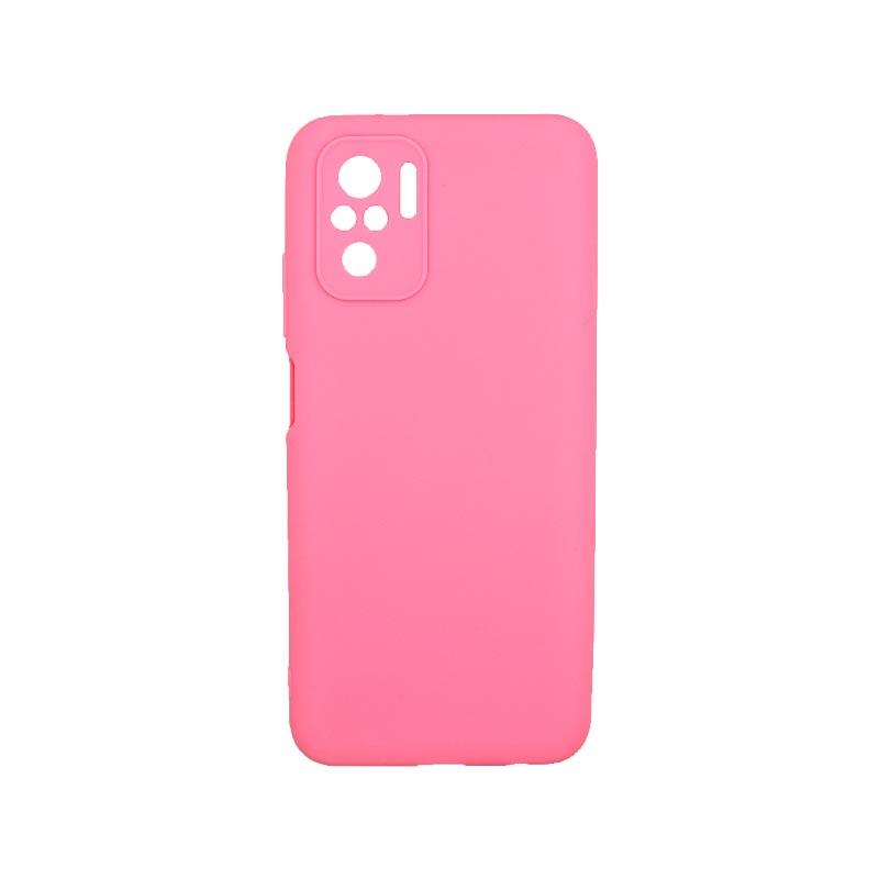 Θήκη Xiaomi Redmi Note 10 / Note 10S Σιλικόνη Με Εσοχές Ροζ