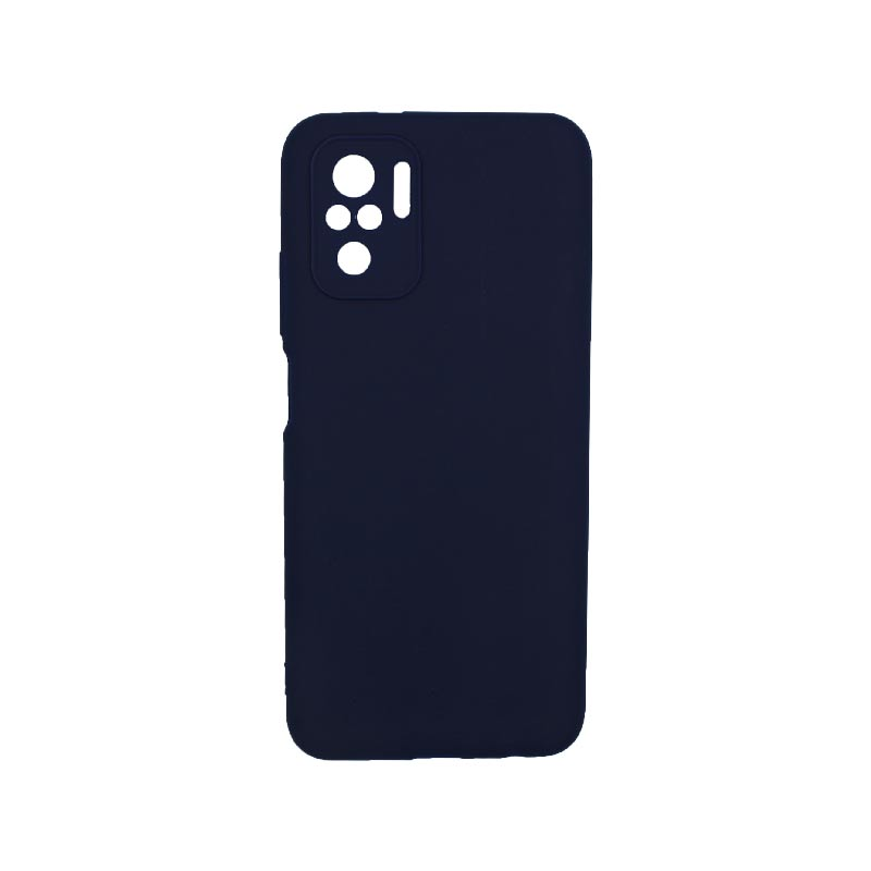Θήκη Xiaomi Redmi Note 10 / Note 10S Σιλικόνη Με Εσοχές Σκούρο Μπλε