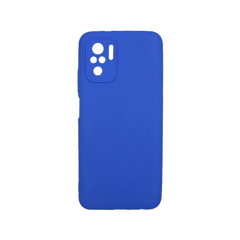 Θήκη Xiaomi Redmi Note 10 / Note 10S Σιλικόνη Με Εσοχές Μπλε