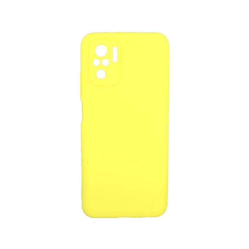Θήκη Xiaomi Redmi Note 10 / Note 10S Σιλικόνη Με Εσοχές Κίτρινο