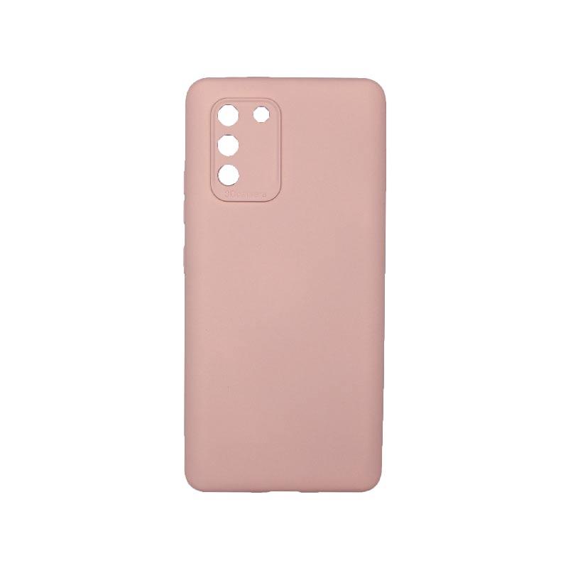 Θήκη Samsung Galaxy S10 Lite 2020 Silky and Soft Touch Silicone Με Εσοχές Απαλό Ροζ 1