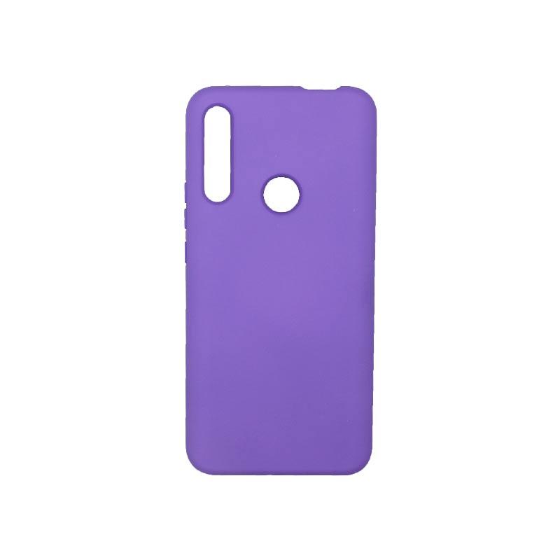 Θήκη Huawei P Smart Z Silky and Soft Touch Silicone Μωβ