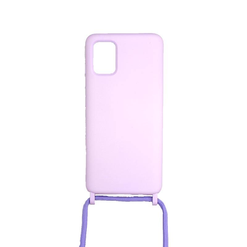 Θήκη Σιλικόνης με Λουράκι Λαιμού για Samsung Galaxy A51