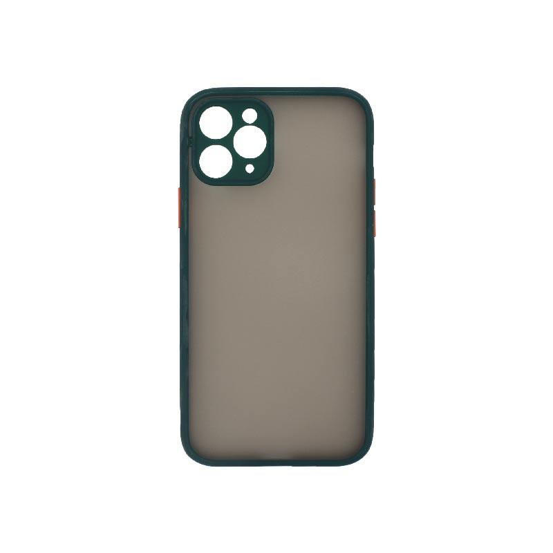 Θήκη iPhone 11 Pro Σιλικόνης με Χρωματιστό Πλαίσιο Πράσινο