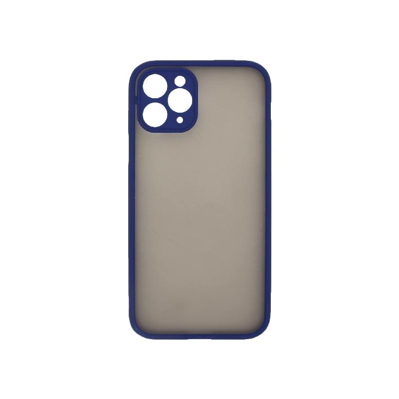 Θήκη iPhone 11 Pro Σιλικόνης με Χρωματιστό Πλαίσιο Μπλε