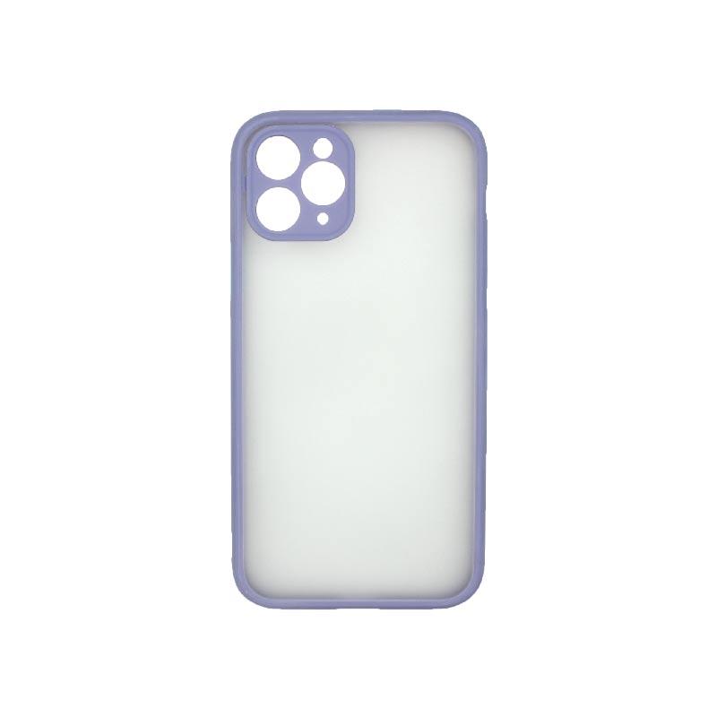 Θήκη iPhone 11 Pro Σιλικόνης με Χρωματιστό Πλαίσιο Λιλά