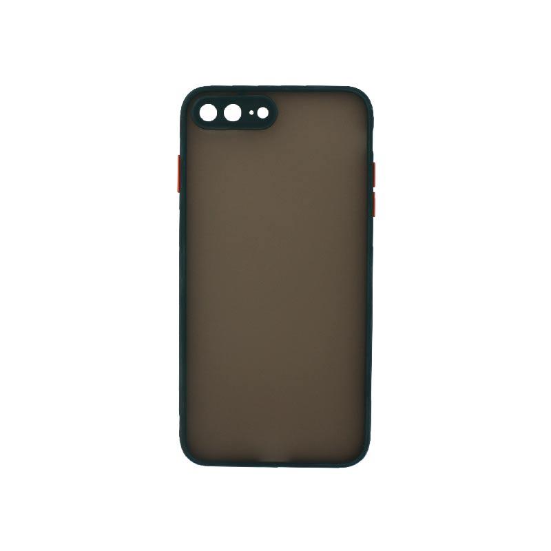 Θήκη iPhone 7 Plus / 8 Plus Σιλικόνης με Χρωματιστό Πλαίσιο πράσινο