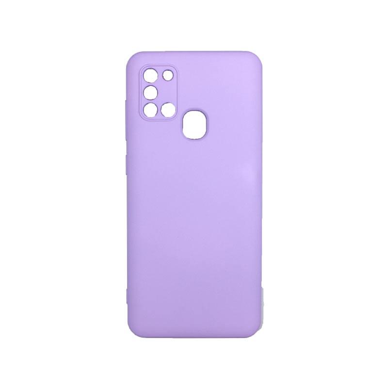 Θήκη Samsung Galaxy A21s Silky and Soft Touch Silicone Με Εσοχές Μωβ