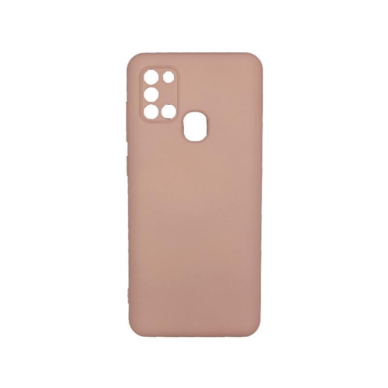 Θήκη Samsung Galaxy A21s Silky and Soft Touch Silicone Με Εσοχές Ροζ