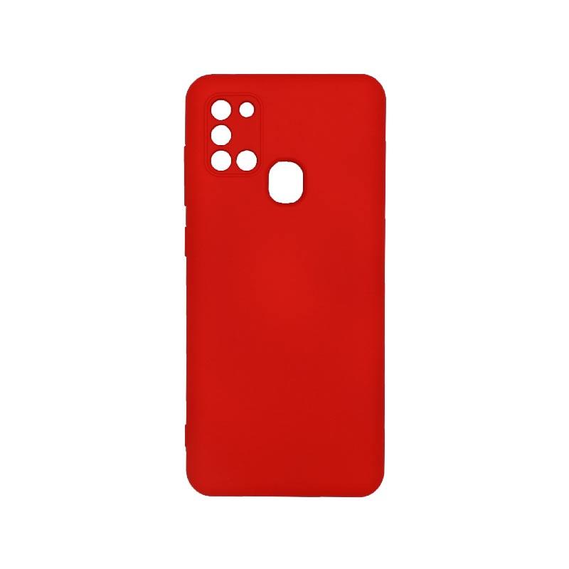 Θήκη Samsung Galaxy A21s Silky and Soft Touch Silicone Με Εσοχές Κόκκινο