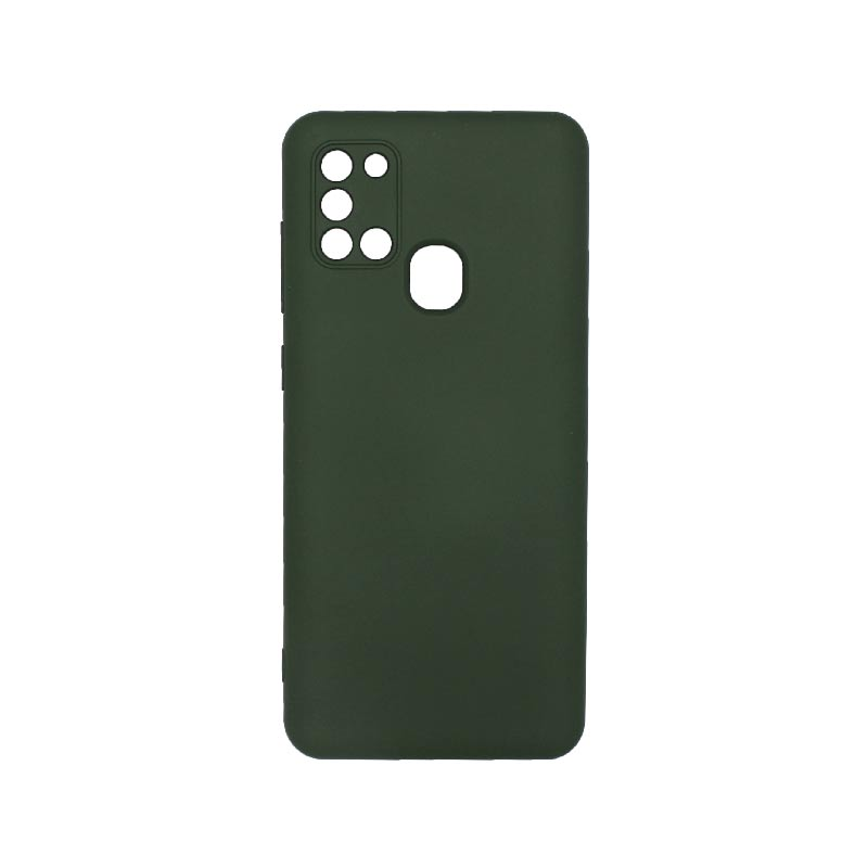 Θήκη Samsung Galaxy A21s Silky and Soft Touch Silicone Με Εσοχές Πράσινο
