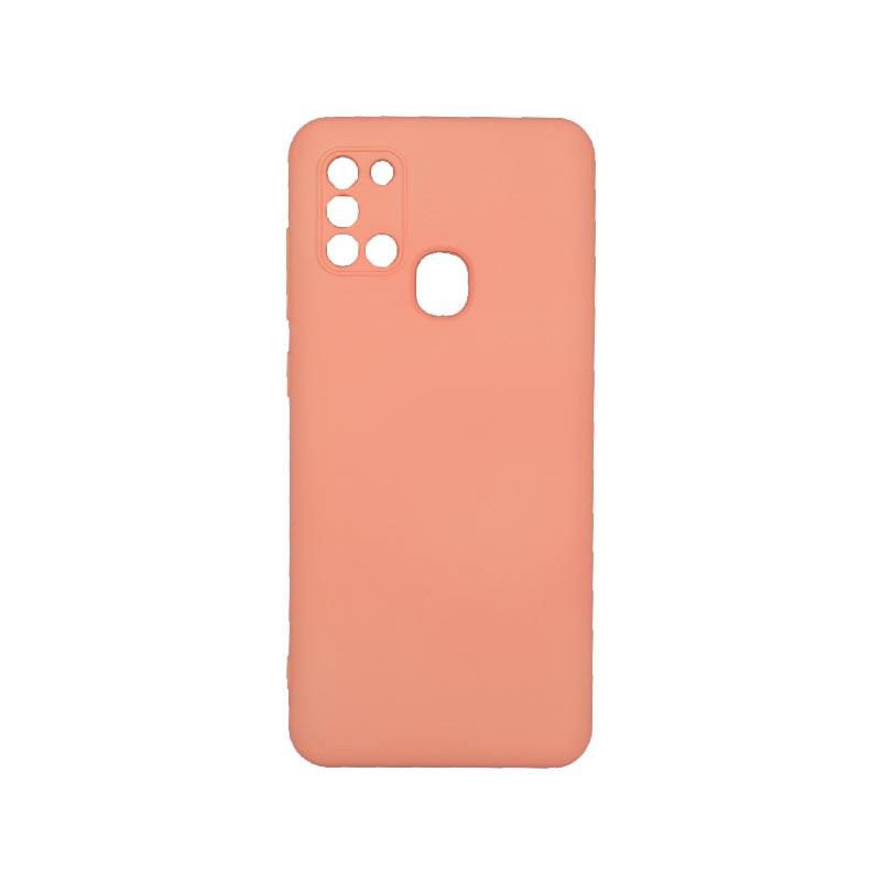 Θήκη Samsung Galaxy A21s Silky and Soft Touch Silicone Με Εσοχές Κοραλί