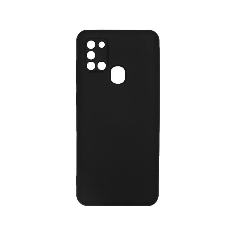 Θήκη Samsung Galaxy A21s Silky and Soft Touch Silicone Με Εσοχές Μαύρο