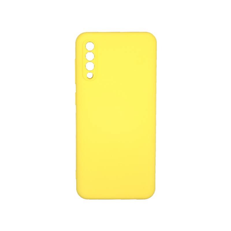 Θήκη Samsung Galaxy A50 / A30s / A50s Silky and Soft Touch Silicone Με Εσοχές Κίτρινο