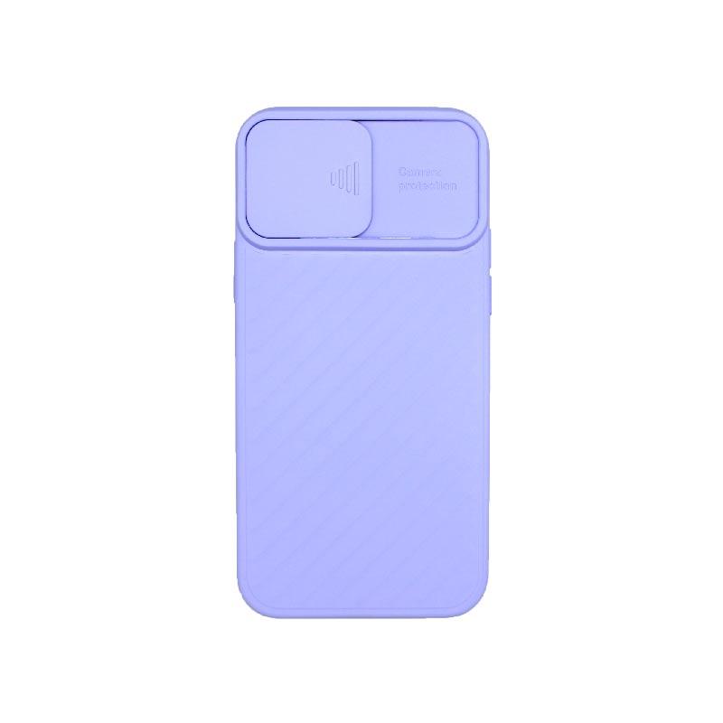 Θήκη iPhone 12 / 12 Pro Σιλικόνη με Camera Protector Μωβ