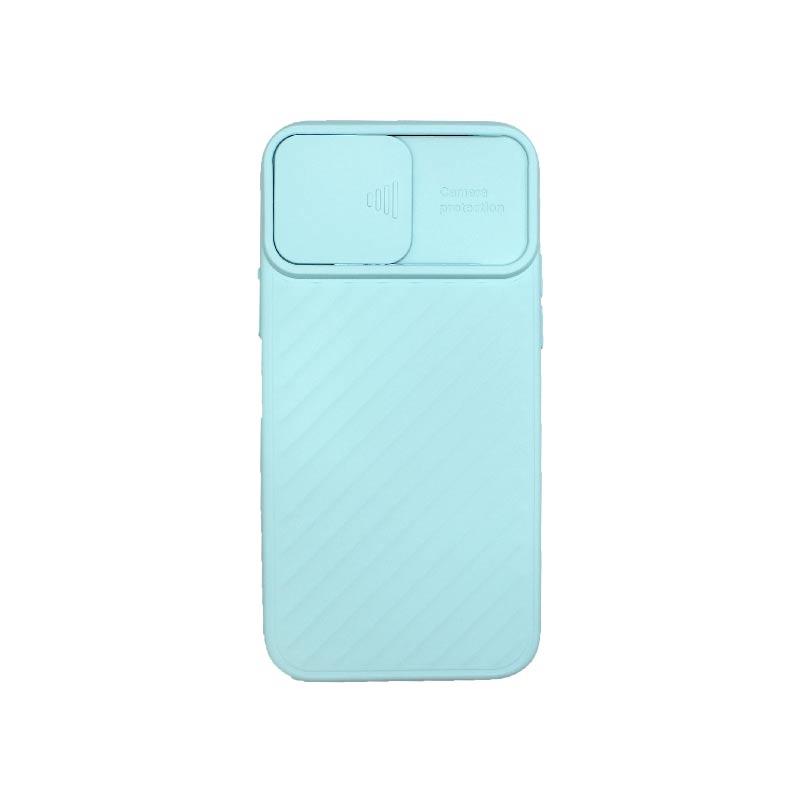 Θήκη iPhone 12 / 12 Pro Σιλικόνη με Camera Protector Γαλάζιο