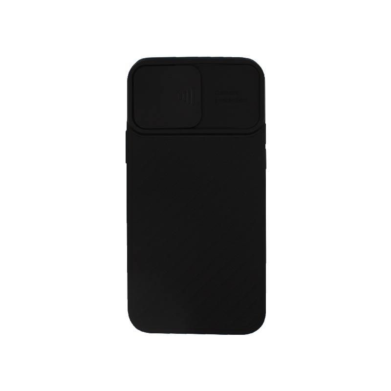 Θήκη iPhone 12 / 12 Pro Σιλικόνη με Camera Protector Μαύρο
