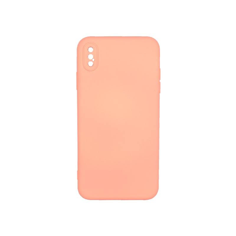 Θήκη iPhone XS Max Silky and Soft Touch Silicone Με Εσοχές Κοραλί
