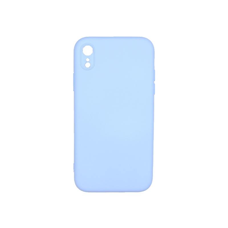 Θήκη iPhone XR Silky and Soft Touch Silicone Με Εσοχές Γαλάζιο