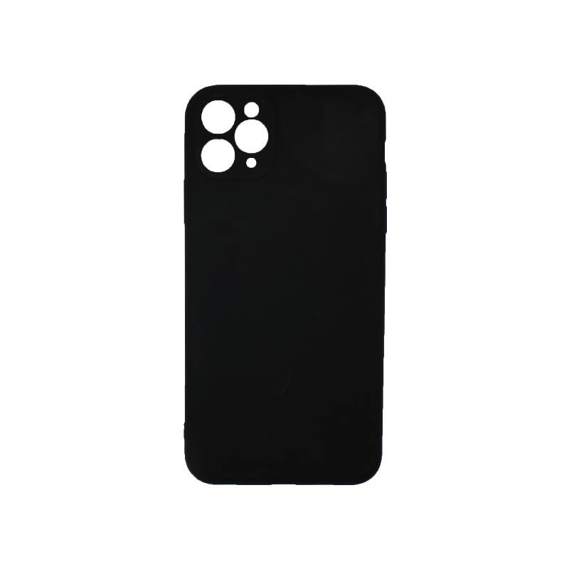 Θήκη iPhone 11 Pro Max Σιλικόνη Με Εσοχές Μαύρο